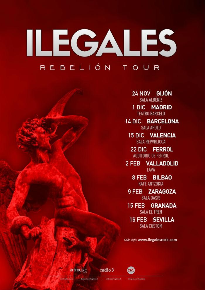 CARTEL DE GIRA ILEGALES REBELIÓN TOUR